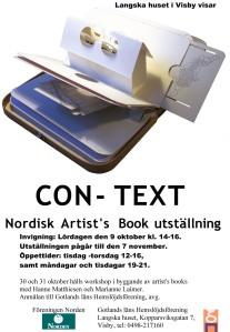 CON-TEXT Gotland PLAKAT