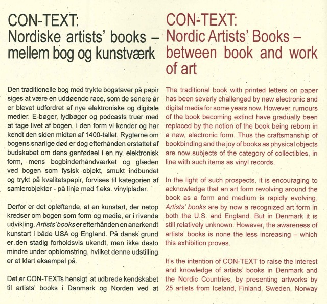 Tekst om artists' books 1